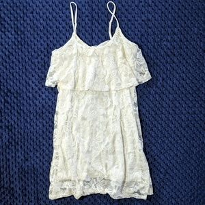 Express White Lace Mini Dress